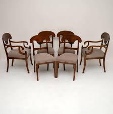 100 Birch Dining Chairs 6 Antique Swedish Satin Biedermeier LA68012