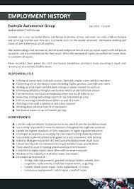 Automotive Technician Resumes Auto Body Resume Mechanic Helper Sample Samples