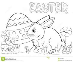 Royalty Free Stock Photo Download Easter Bunny Coloring Page