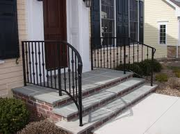 Wrought Iron Railings Curving Away From The Top Step. I Like How ... Outdoor Wrought Iron Stair Railings Fine The Cheapest Exterior Handrail Moneysaving Ideas Youtube Decorations Modern Indoor Railing Kits Systems For Your Steel Cable Railing Is A Good Traditional Modern Mix Glass Railings Exterior Wooden Cap Glass 100_4199jpg 23041728 Pinterest Iron Stairs Amusing Wrought Handrails Fascangwughtiron Outside Metal Staircase Outdoor Home Insight How To Install Traditional Builddirect Porch Hgtv