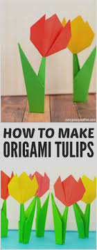 Wonderful Origami Tulip For Kids How To Make Flowers Tutorial With Diagram