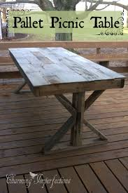 Build A Picnic Table Out Of Pallets by Diy Pallet Farmhouse Table Pallet Picnic Tables Picnic Tables