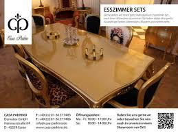 luxus barock esszimmer stühle tische casa padrino in