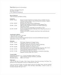 Resume Of Computer Science Engineering Student Final Year Be