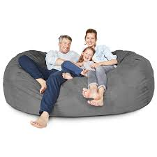 Amazon.com: Lumaland Luxury 7-Foot Bean Bag Chair With Microsuede ... Amazoncom Jaxx Nimbus Spandex Bean Bag Chair For Kids Fniture Creative Qt Stuffed Animal Storage Large Beanbag Chairs Stockists Best For Online Purchase Snorlax Sizes Pink Unique Your Residence Inspiration Childrens Bean Bag Chairs Ikea Empriendoclub Sofa Sack Plush Ultra Soft Memory Posh Stuffable Ultimate Giant Foam