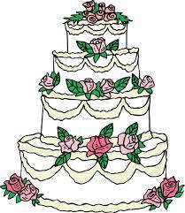 Elegant Wedding Cake Clip Art Free Clipart
