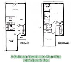 Many Other Plans 2 Bedroom Townhouse Floor Plans Brandl Anderson Homes