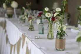 Rustic Wedding Flowers In Jars And Bottles Passionforflowers