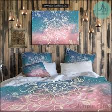 Trippy Bed Sets by Bohemian Chic Bedding Hippie Duvet Covers Indian Cotton Duvet