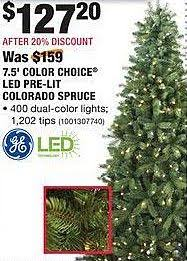 Home Depot Ge Pre Lit Christmas Trees by Home Depot Black Friday Ge 7 5 Ft Color Choice Led Pre Lit