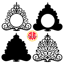 Christmas Trees And Tree Monogram Frames Files