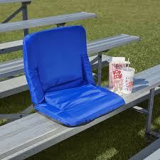 The Fan's Padded Stadium Seat - Hammacher Schlemmer Recling Stadium Seat Portable Strong Padded Hitorhike For Bleachers Or Benches Chair With Cushion Back And Armrest Support Pnic Time Oniva Navy Recreation Recliner Fayetteville Multiuse Adjustable Rio Bleacher Boss Pal Green Folding Armrests 7 Best Seats With Arms 2017 The 5 Ranked Product Reviews Sportneer Chairs 1 Pack Black Wide 6 Positions Carry Straps By Hecomplete Khomo Gear And Bench Soft Sided