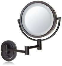 jerdon hl65bzd 8 inch lighted wall mount direct wire makeup mirror