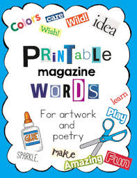Magazine Letters and Words BIG Package by Art is Basic