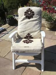 Four Folding Chairs With Upholstered Cushions Suitable For Use In A  Conservatory Or On A Patio | In Grantham, Lincolnshire | Gumtree