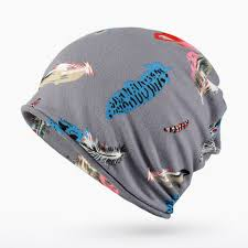 100 Two In One 2019 Autumn And Winter Keep Warm Feather Printing Hat Multipurpose