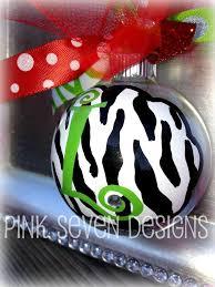 Items Similar To Glitter Zebra Print Ornaments