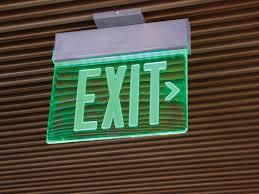edge lite led exit sign series northern lights usa clip