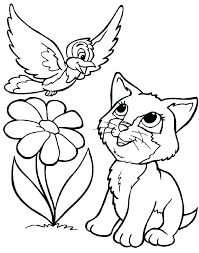 Attractive Design Ideas Cute Kitten Colouring Pages Coloring Page Free Printable Little Kittens To Print
