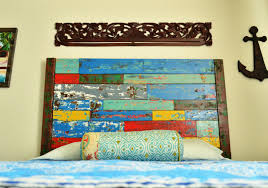 Ana White Headboard Plans by Ana White Reclaimed Boat Wood Finish Diy Projects