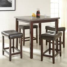 Cheap Dining Room Sets For 4 by Acme Furniture Ainsley 5 Piece Counter Height Faux Marble Dining