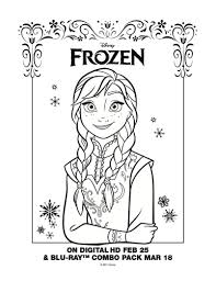 Draw Background Disney Frozen Movie Coloring Pages At Free Printable Page Anna