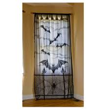 Lace Priscilla Curtains With Attached Valance by Private Label Halloween Damask Skull Black Lace Scenic Window