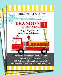FireTruck Invitation Printable Or Printed With FREE SHIPPING ...