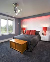 Loving The Red Lights Contemporary BedroomGrey