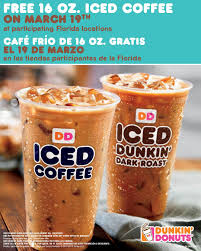 Iced Coffee Free The Dunkin Donuts