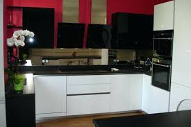 meuble cuisine laqu blanc meuble cuisine noir laque cool cuisine carmacucine smile laque blanc