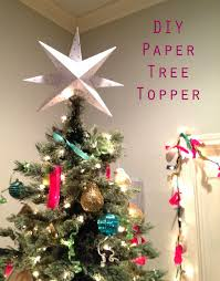 Christmas Tree Toppers by The Happy Homebodies Diy Paper Star Christmas Tree Topper