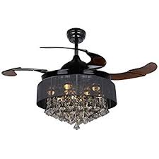 Retractable Blade Ceiling Fan India by Amazon Com Fanaway Classic 48 Inch Fan With Clear 4 Retractable