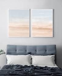 set of 2 prints bedroom print set printable wall