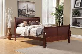 amazon com alpine furniture louis philippe ii sleigh bed home