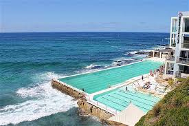 Pacific Waves Frequently Crash Over The Wall And Top Up Pool At Bondi Icebergs Swimming