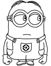 The Minion Despicable Coloring For Kids Me Cartoon Pages Sheets To Print Halloween Printable Christmas