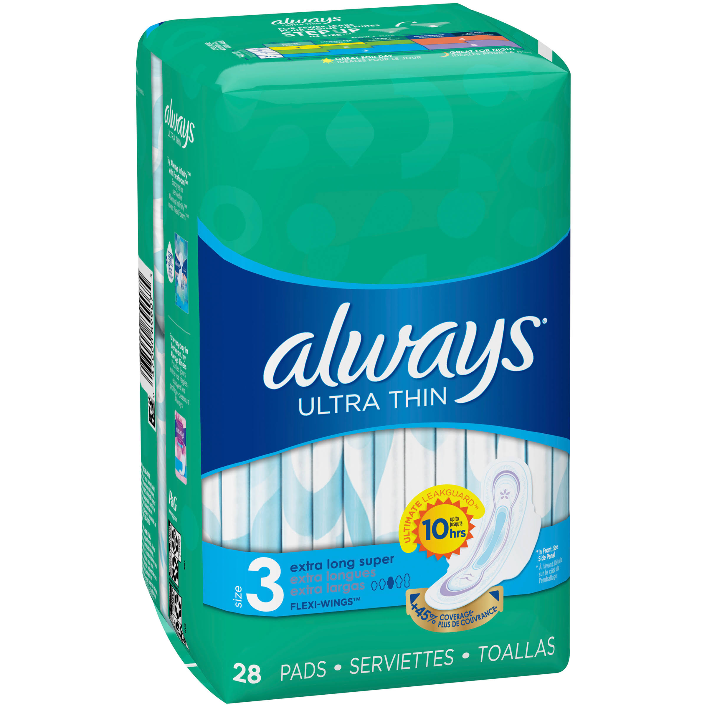 Always Ultra Thin Pads - 28 Pads, Size 3
