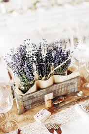 Rustic Provence Spring Wedding Centerpieces With Lavenders