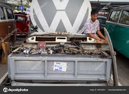 Volkswagen Pickup Truck Owner Sell VW Decoration And Parts – Stock ...