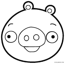 Angry Birds Pigs Coloring Pages