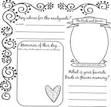 Printable Wedding Guest Book Ideas Template Instant Download Gray And Yellow Mad Lib Diy Samesex