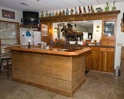 Rustic Basement Ideas Home Bar Image