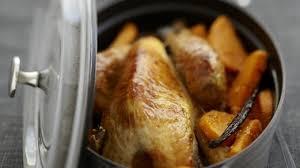 cuisiner le chapon recette de chapon de pintade aux patates douces vanillées en cocotte
