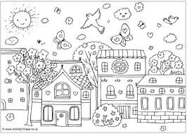 Prissy Ideas Springtime Coloring Pages Spring Colouring For Kids