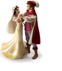 Snow White and Prince cake topper PNG
