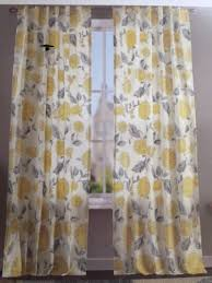 Yellow And Gray Window Curtains by New 2 Envogue Gray Silver White Yellow Floral Damask Window