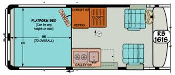 Sportsmobile Conversion Van Diagram Illustrating The Many Options For A Platform Bed
