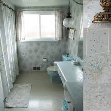 Vintage 1950s Bathrooms Retro Blue Tiled Bathroom Designed To