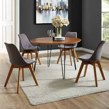 Perfect Hairpin Leg Dining Table Shop 46 Inch Round Walnut On Sale Free Uk Chair Diy Room Set Ebay Small